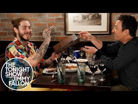 Watch Jimmy Fallon & Post Malone Stuff Their Faces At Olive Garden!