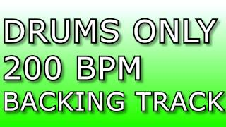 METAL DRUMS ONLY // 200BPM // Heavy Metal Drum Backing Track