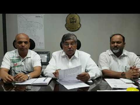 Chandrakant Dada Patil Reviewing Flood Situation in Kolhapur