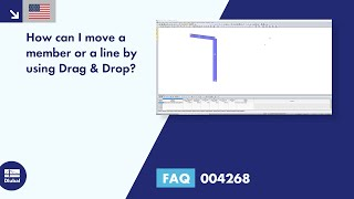 FAQ 004268 | How can I move a member or a line by using Drag & Drop?