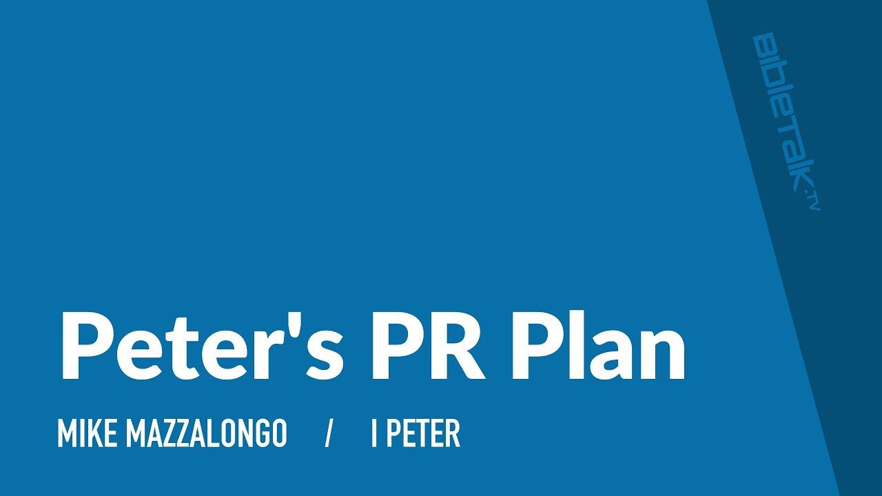 Peter's PR Plan