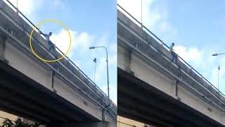 Diduga Putus Cinta, Seorang Pemuda Mencoba Lompat dari Atas Jembatan Lempuyangan