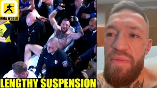 Conor McGregor has been medically suspended until 2022 after UFC 264 loss to Dustin Poirier, Khabib