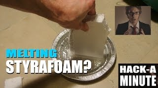 Did you know you can melt styrofoam with acetone?