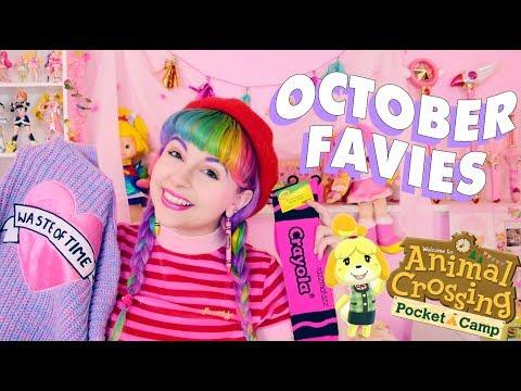OCTOBER FAVIES ♡ LAZY OAF, ANIMAL CROSSING POCKET CAMP, & MORE!