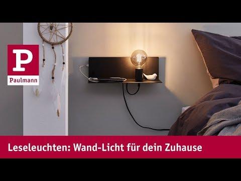 Licht und Platz schaffen mit Wandleseleuchten von Paulmann