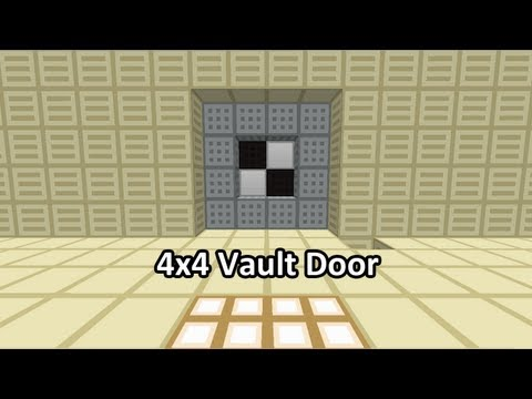 4x4 Vault Door With Cool Animation Minecraft Project