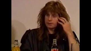 OZZY OSBOURNE STONED INTERVIEW (1989)