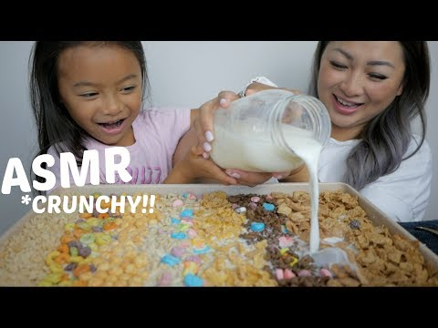 ULTIMATE CEREAL COMBINATION ASMR Mukbang | N.E Let's Eat