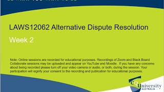 LAWS12062_02 Alternative Dispute Resolution