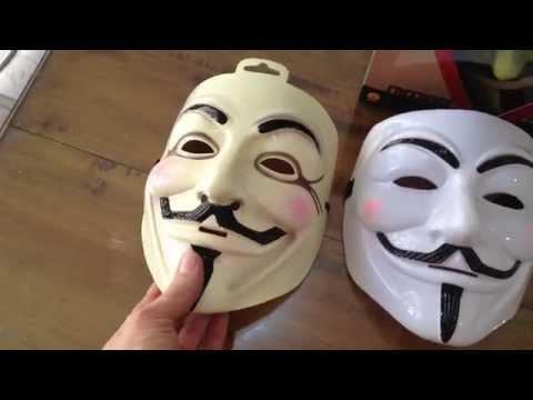 Comparación Máscaras V de Vendetta (Venganza), Anonymous
