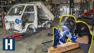 Danger Dan Schools us on Aluminum Welding on the Pit Truck's Rotary