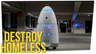 Robots Used to Drive Away Homeless People ft. Steve Greene & GinaDarling