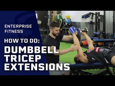 How To Do Dumbbell Decline Lying Tricep Extension Correctly