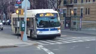 preview picture of video 'MTA NYCT Bus: 2011 New Flyer XD40 Xcelsior B15 Bus #4815 (Ex. Ulmer Park) at East New York Ave'