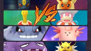 Slowking  - (Pokémon) - Pokémon GO Gym Battles 3 Gym takeovers Shuckle Steelix Slowking Jolteon Weezing & more