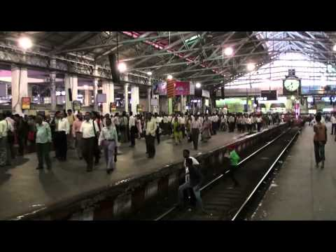 Chhatrapati Shivaji Terminus and train Mumbai   India 1080p
