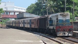 preview picture of video 'SLR's Class M2 572 'British Columbia' departing Mount Lavinia Station'