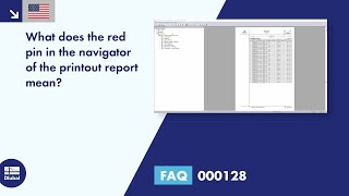 FAQ 000128 | What does the red pin in the navigator of the printout report mean?
