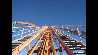 The biggest roller coaster drop in the world!!