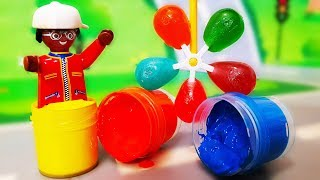 Мультики для детей. Медведь Мишка и Петрович строят ДОМ - Конфетка Спиннер. Цветные игрушки