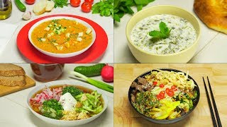 Четыре холодных супа. Рецепт от Всегда Вкусно!