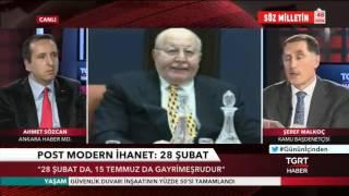 Kamu Başdenetçisi Şeref Malkoç, TGRT Haber Canlı Yayını
