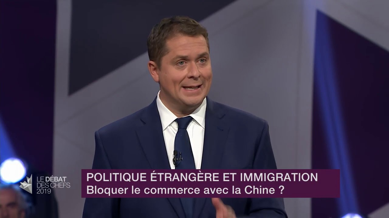 Andrew Scheer answers a question about relations with China