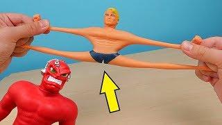 Мучаю игрушку антистресс Стретч Армстронг! Что если бросить его с высоты 100 метров? alex boyko