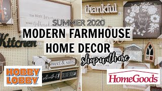 FARMHOUSE HOME DECOR FINDS | SHOP #WITHME AT HOBBY LOBBY & HOME GOODS!