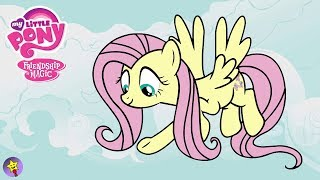 My Little Pony Coloring Book Fluttershy Coloring Page MLP MLPFiM Mane 6
