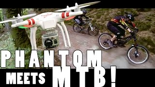preview picture of video 'DJI Phantom 2 - DIY Cable Cam MTB Action in Luxembourg'