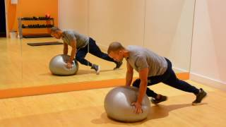 Ultimate 20 Minute STABILITY BALL WORKOUT. SESSION 1 by NateBowerFitness