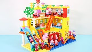 Peppa Pig Building Blocks Lego House Toys - Lego Duplo House Creations Toys For Kids #8