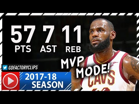 LeBron James UNREAL Full Highlights vs Wizards (2017.11.03) - 57 Pts, 11 Reb, 7 Ast, BEAST!
