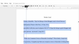 How to Add Hanging Indents in Google Docs