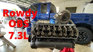 BUILT 7.3 gets some goodies! T4 mount turbo kit and more!