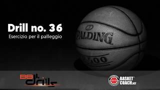 <p>Basketball Drills: esercizio n. 36 -- Esercizio per il palleggio</p>