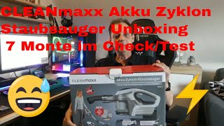 CLEANmaxx Akku Zyklon Staubsauger Unboxing  7 Monte im Check