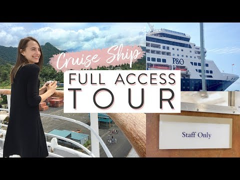 FULL ACCESS Cruise Ship Tour!