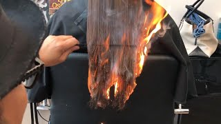 California Hair Stylist Sets Client's Hair on Fire to Get Rid of Split Ends