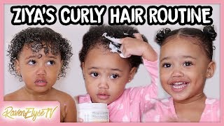 Ziyas HAIR ROUTINE   Toddler Curly Hair Tutorial