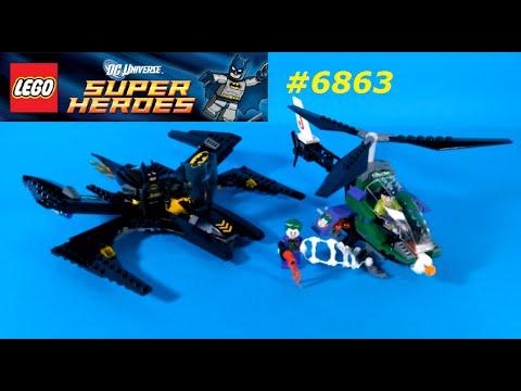 Vidéo LEGO DC Comics Super Heroes 6863 : La Bataille en Batwing au-dessus de Gotham City