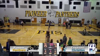 Volleyball Sectional @ Pioneer - Pioneer vs Covenant Christian