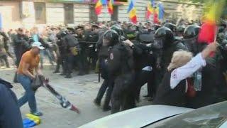 Протесты в Кишинёве переросли в стычки (новости)