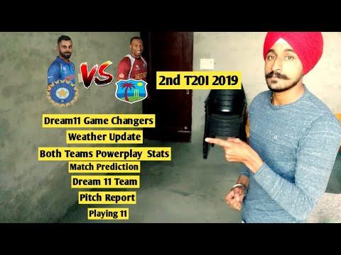 IND vs WI 2nd T20 Dream11 | Thiruvananthapuram Cricket Stadium Pitch Report | IND vs WI Playing 11
