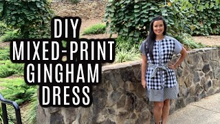 Mixed Print Gingham Dress  |  M7889 Sewing Pattern Review