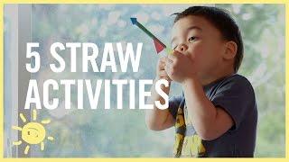 Serunya Membuat 5 Mainan Anak Dari Sedotan Ini