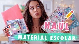 HAUL de MATERIAL ESCOLAR + VUELTA a CLASE 2018-2019 || Lalia Benchelef