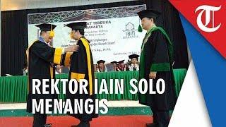 Teringat Istri dan Empat Anaknya, Rektor IAIN Solo Menangis saat Pidato Pengukuhan Guru Besar